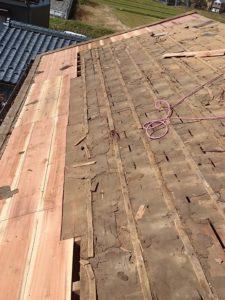 野地板の軒先部分貼り替え